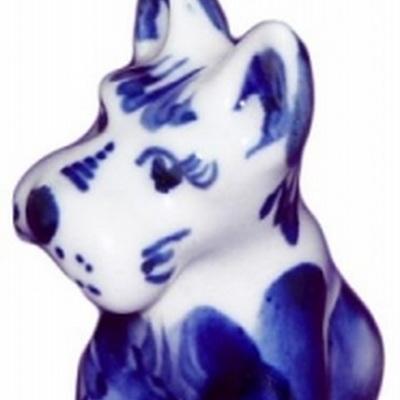 Собака, символ года 2018, русский сувенир