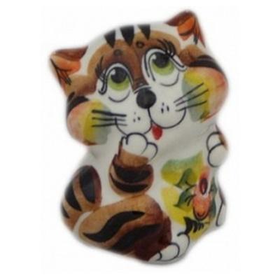 Кот фарфоровый с росписью