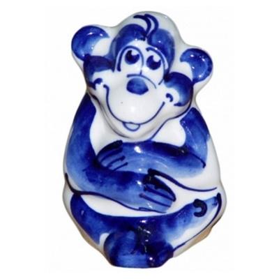 Новогодний сувенир 2016 обезьянка гжель оптом