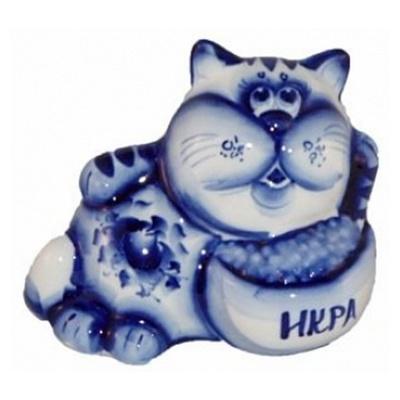 Сувенир из фарфора кот гжель