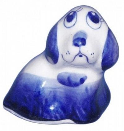 Символ 2018 собачка из фарфора
