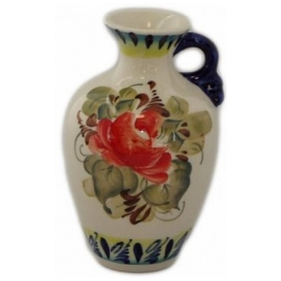 Фарфоровая вазочка с ручкой