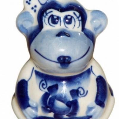 Фигурка обезьянка, гжель, сувенир года