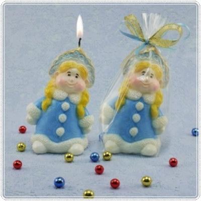 """Новогодняя свеча """"Снегурочка"""""""