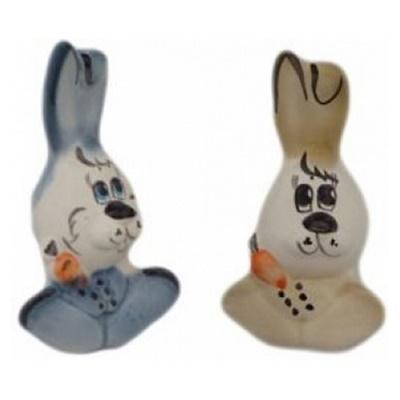 Фарфоровые фигурки зайцев