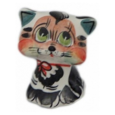 Цветной фарфоровый кот