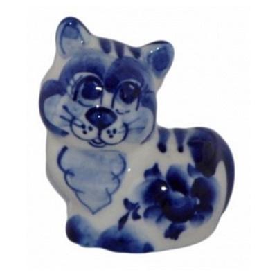 Сувенир кошка гжель