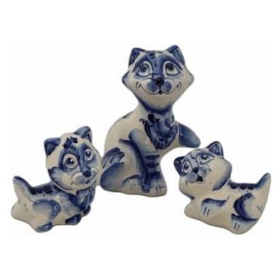 Кошачье семейство гжель