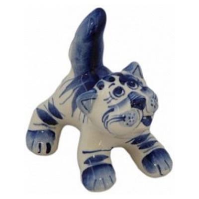 Кот хулиган гжель