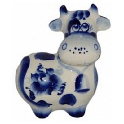 Корова с росписью гжель