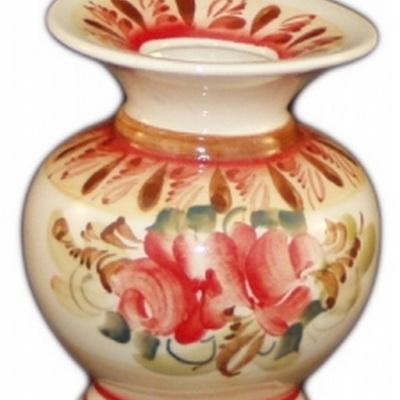 Фарфоровая ваза роспись