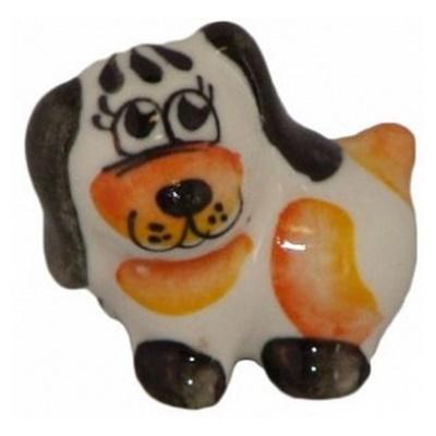 Малая цветная собачка из фарфора