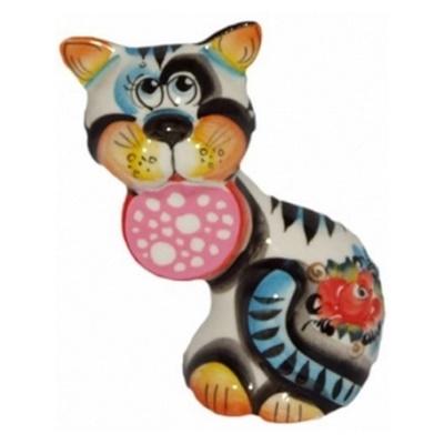 Кот цветной из фарфора