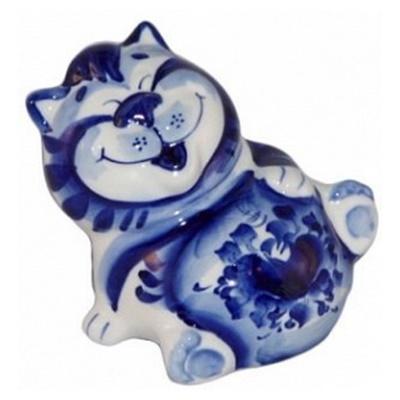 Сувенир кот гжель, ручная роспись