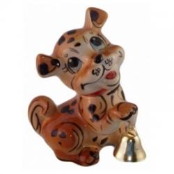 Собака с колокольчиком, 13 см, арт 2047