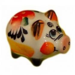 Хрюшка малая цветная 3.8 см. арт.2510