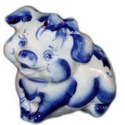 Свинка фарфоровая 9 см., арт.2581