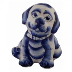 Фигурка собака гжель, 12 см, арт 2045