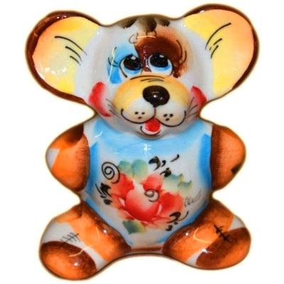 Цветная фигурка мышь символ 2020 года