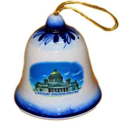 Колокольчик с символикой Санкт-Петербурга