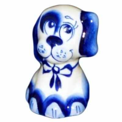 щенок сувенир гжель