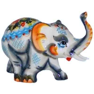 Цветной фарфоровый слон.