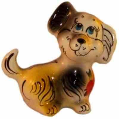 фигурка собаки из фарфора