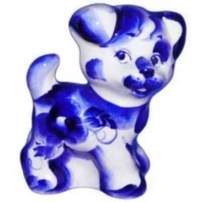 Статуэтка новогодняя собака гжель
