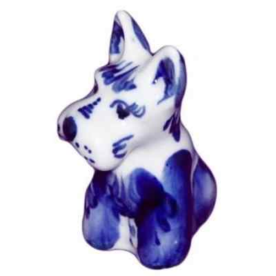 Собака гжельский сувенир