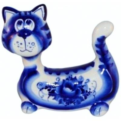 Кот фарфоровый, гжельский фарфор