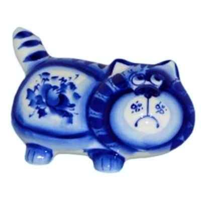 Кот из фарфора гжель