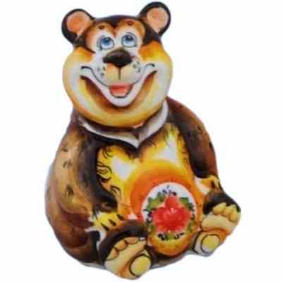Фигурка медведя из фарфора