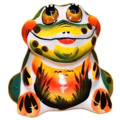 Фигурка жабы из фарфора