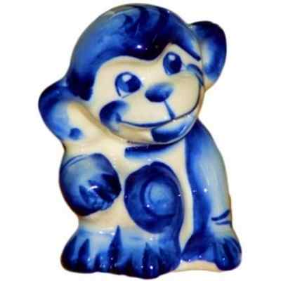 сувенир обезьянка фарфоровая гжель