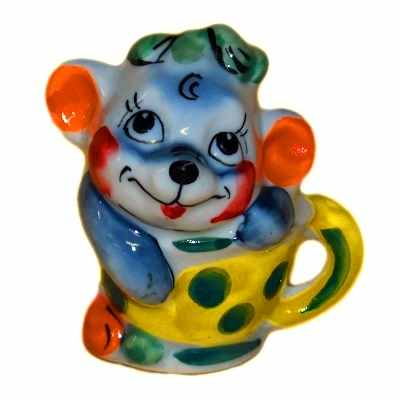 Сувенир мышка в чашке