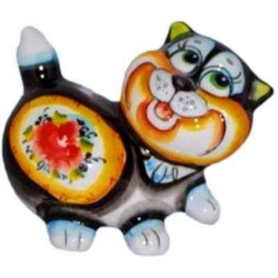Кот цветной фарфоровый
