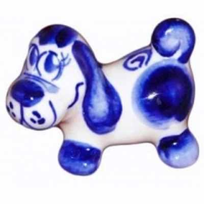 Статуэтка гжельской собачки