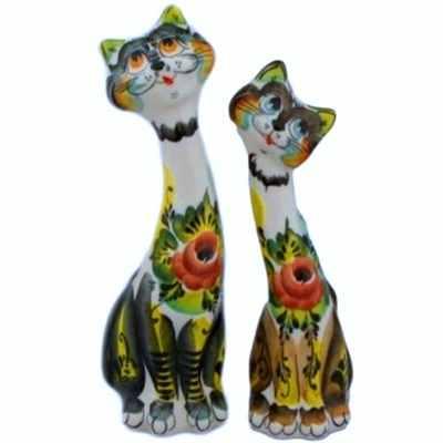 пара котов фарфор