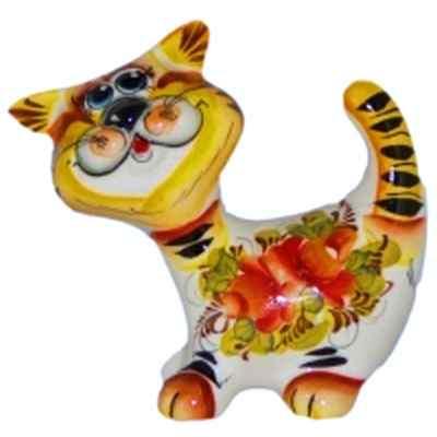 Фарфор, кот цветной