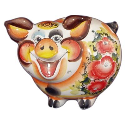 Фарфоровая свинка копилка