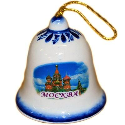 Колокольчик с символикой Москвы