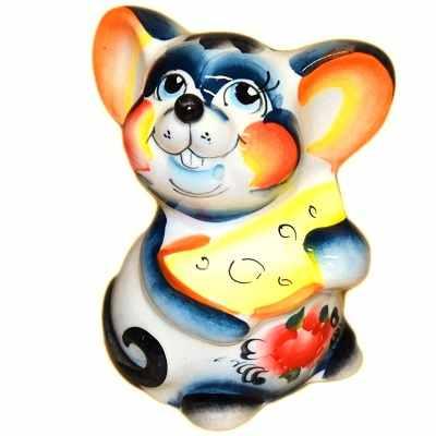 Цветная мышка с сыром