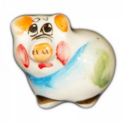 Свинка фарфоровая цветная