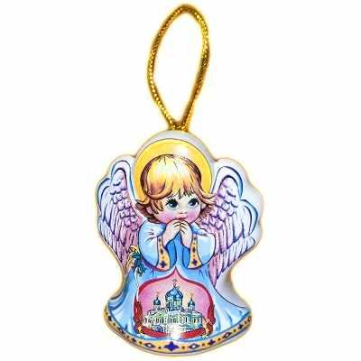 Колокольчик ангел из керамики