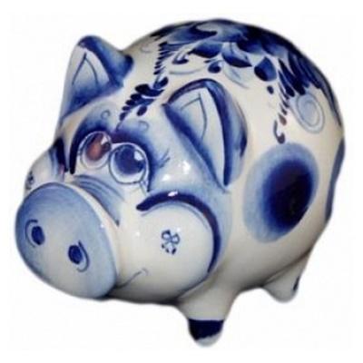 Свинка гжель, символ года