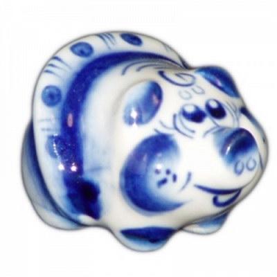 Свинка фарфоровая с росписью