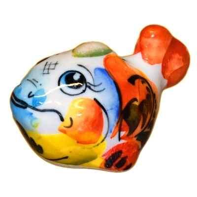 Цветная рыбка из фарфора