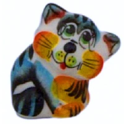 Фарфоровый кот с росписью