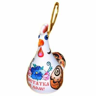 Сувенир курица из керамики