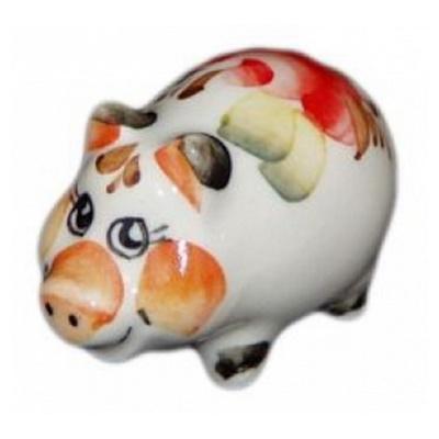 Цветная свинка из фарфора